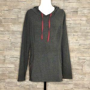 Roots long grey sweatshirt tunic hoodie